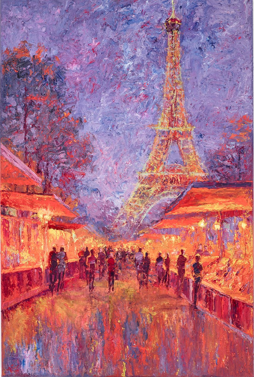 Trocadero Gardens Market, Paris I by lana okiro -  sized 24x35 inches. Available from Whitewall Galleries